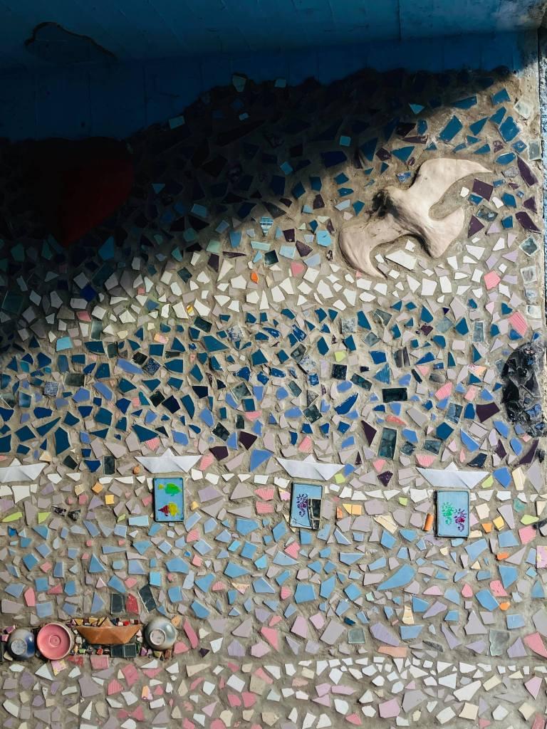 Mosaics on Vicolo Oreste Casaglia